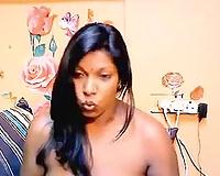 Indian hotwife Rashmi kneads her zeppelins in fantastic webcam solo