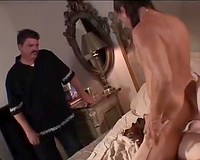 Cuckhold hubby watches his hotwife having enjoyment with some other dude