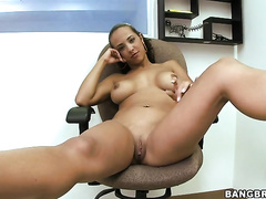 Latina wife with avid curves sucks giant weenie on casting