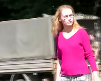 Amateur golden-haired slutwife in Russian Federation can't live without pissing humiliation