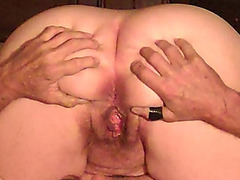old granny receives hard drilled