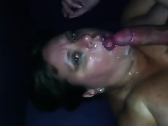 Mature BBC slut of my neighbour takes a large load of cream from me