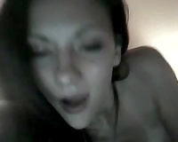 Dark-haired enchantress with pierced navel masturbates for me on cam