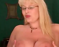 My weird blond dirty slut wife swallow her own fur pie juice after masturbation