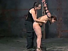 Nasty whore with chunky a-hole acquires brutally punished by her femdom-goddess