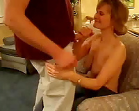 She assented to blow shlong classic style on homemade movie