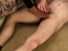 My spicy hawt girlfriend knows how to give astounding footjob