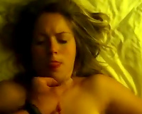Hot juvenile girlfriend takes her first facial on POV clip