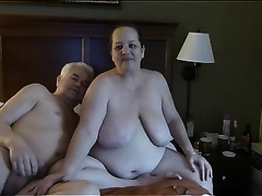 Mature white couple on livecam teases me with oral-job sex act