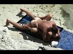 Hidden cam movie with my neighbor fucking his Married slut on a beach