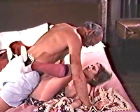 Lucky fart copulates youthful chick missionary style and jizzes on her tummy