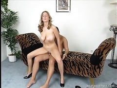 Nasty golden-haired mother I'd like to fuck acquires her soaking cunt team-fucked hard