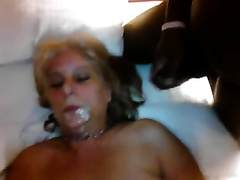 Busty older golden-haired white bitch is so lascivious to be team-fucked