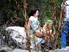 Amateur amateur wife acquires her cookie gangbanged unfathomable in the missionary pose outdoors