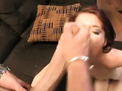 Sweet redhead amateur wife loved hardcore sex with moist creamy ending