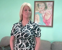 Amateur blonde mama disrobes and demonstrates her natural beauty