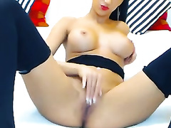 Perfect webcam dark brown smokes and fingers her astounding vagina