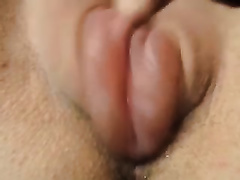 My lustful slutwife is highly proud of her swollen fur pie