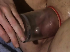 Pumping up the cunt and clitoris of my big beautiful woman white BBC slut