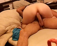 Hot milf neighbour with astounding a-hole rides me on top
