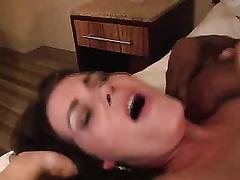 Curvy brunette hair milf enjoys fantastic interracial sex indoors