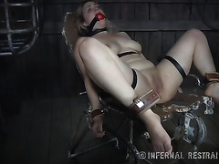 Three unrepining gals acquire brutally spanked by their kinky slaver