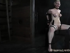 Poor and unsightly thrall horny white wife toyed by her pretty mistress