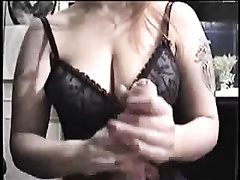 Hot and breasty BBC slut of my neighbour wanking my 10-Pounder