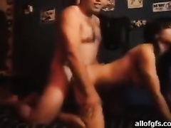 Slim sexy Indian horny white wife with good whoppers is getting fucked bad doggy style