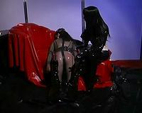 Hot latex fetish movie scene with a uncomplaining amateur floozy