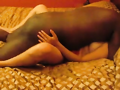 Heavy dark bull bonks me in missionary position in front of my hubby