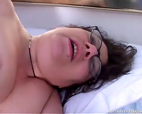 Fat old white cock eater tastes cum of this youthful chap
