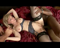 Nina Hartley sex with 2 large rods
