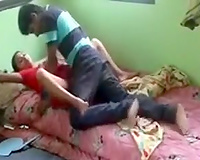 Indian harlot widens her legs wide to acquire her cookie gangbanged