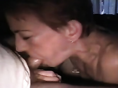 It is effortless for her to deepthroat my cock due to its size