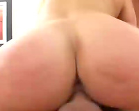 Hussy jade receives drilled bad in a missionary position. Male+Male+Female