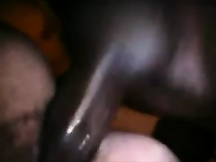 Close up POV with me getting my bushy cum-hole fucked by a BBC