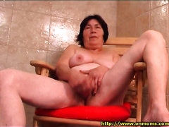 Bodacious and barefaced older woman copulates herself with her dildo