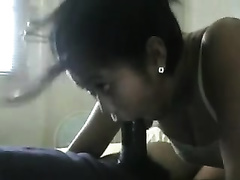 Asian milf shows her breathtaking deepthroat orall-service skills to me