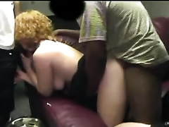 Cute redhead white wife desires to be ganbanged in the cinema