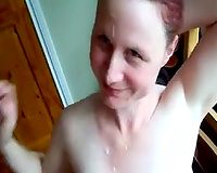 Pregnant GF with saggy bumpers is wanking my dick like there is no the next day