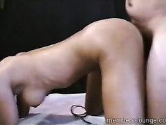 Naughty and smutty black haired whore seduces her doctor