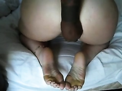 Interracial homemade foot fetish movie scene with me and my white amateur wife