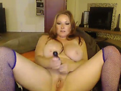 Busty redhead in blue nylons mega pointer sisters bouncing