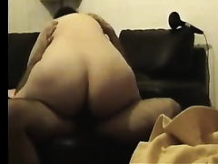 My large butted BBC slut with massive milk shakes likes cowgirl position