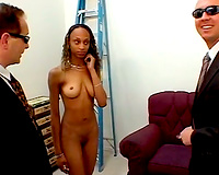 That freaky ebony whore with big face hole strips on web camera