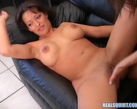 Busty dark brown asks her lesbo GF to finger fuck her cunt