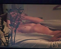 Hidden webcam in my bedroom catches my girlfriend with one more girl