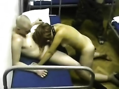 Homemade clip with a hardly any soldiers fucking a doxy in the barracks