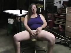 Old and freaky brunette hair big beautiful woman cheating wife masturbating with a bottle